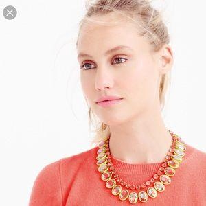 J. Crew yellow layered crystal brûlée necklace 🍋